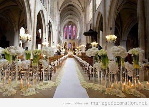 D coration d 39 une glise style gotique pour un mariage - Decoration eglise pour mariage ...
