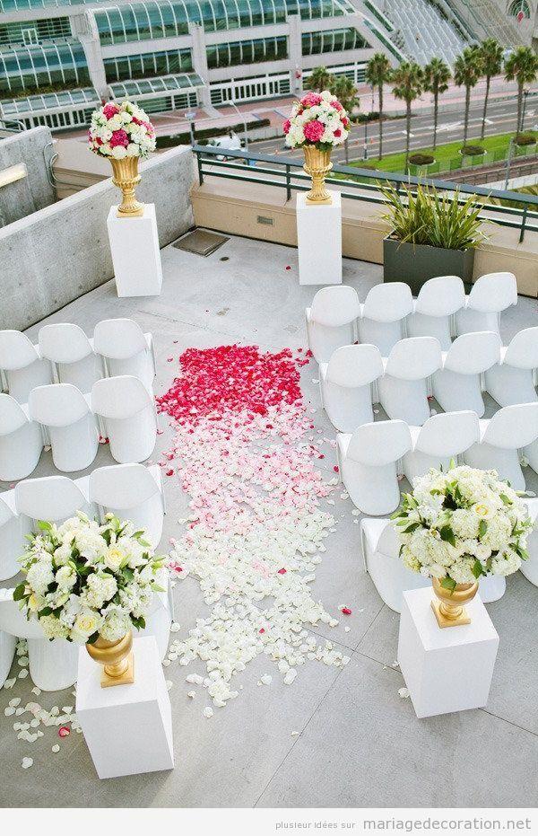 Déco mariage original en une terrasse