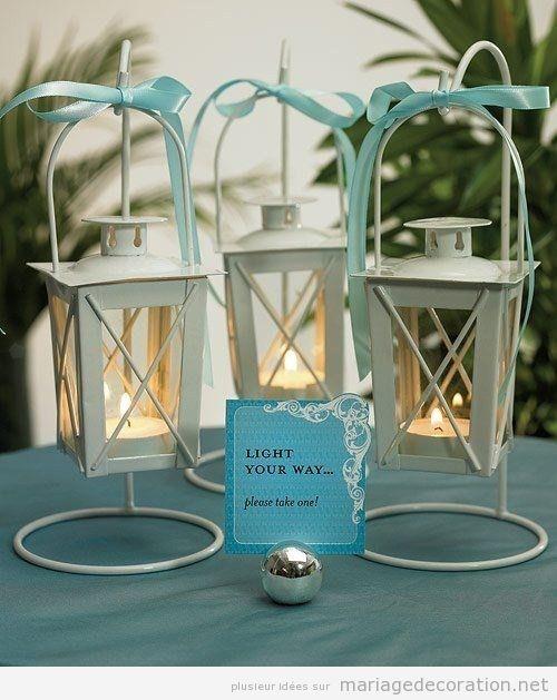 Lampes à l'huile pour les invités au mariage