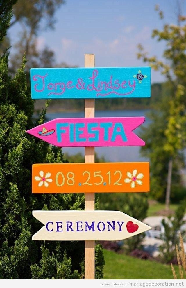 Affiche en bois pour souhaiter la bienvenue aux invités