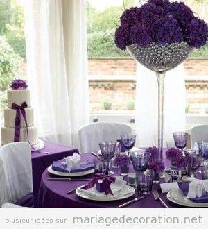 Déco salle mariage couleur violette