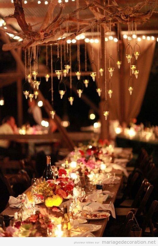 Idées pour l'éclairage de la salle d'un mariage, très chaud
