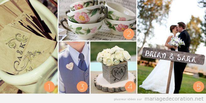 Idees pour décorer un mariage à la campagne