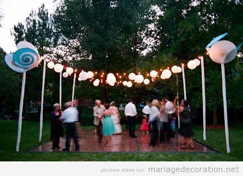Piste de danse, mariage au jardin