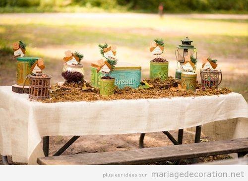 Table pour le thé et le café, mariage au jardin
