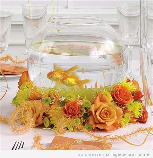 Un bocal poissons comme centre de table d coration for Deco bocal poisson