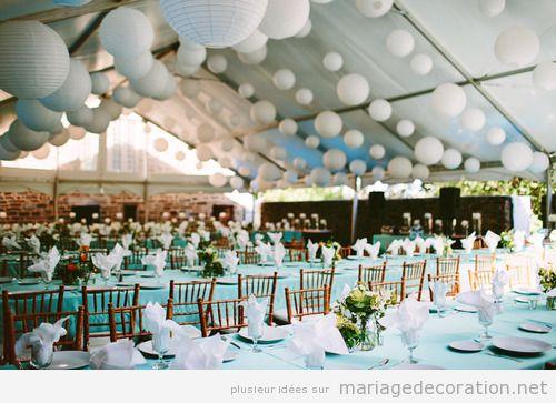 Idees pour décorer un mariage en un endroit bâché