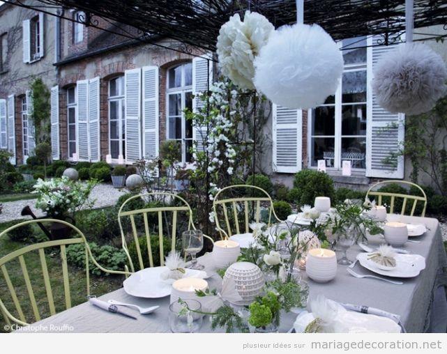 Idees pour décorer un mariage pas cher au jardin de chez toi