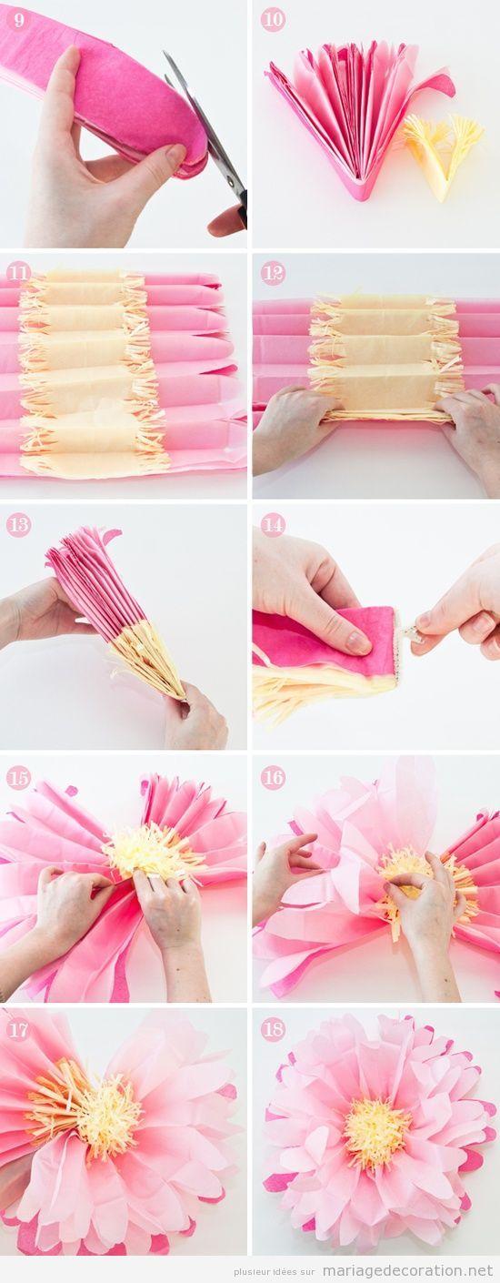 Tuto pas à pas, fleur en papier de soie