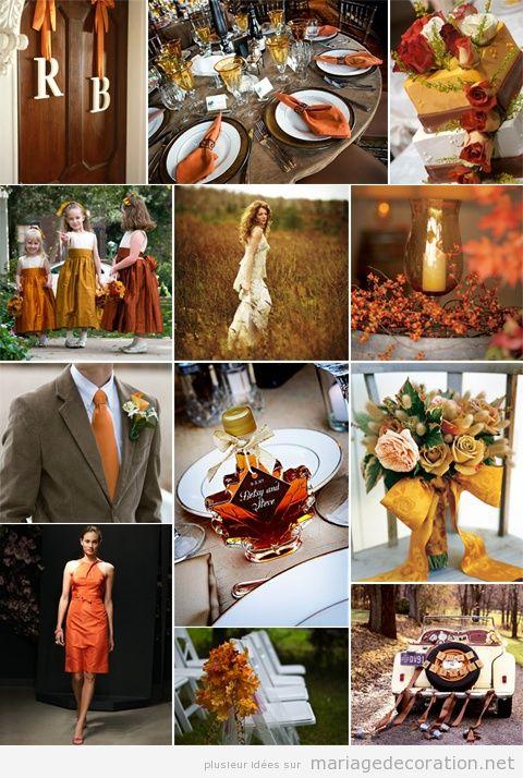 Idées pour décorer un mariage en orange à l'automne