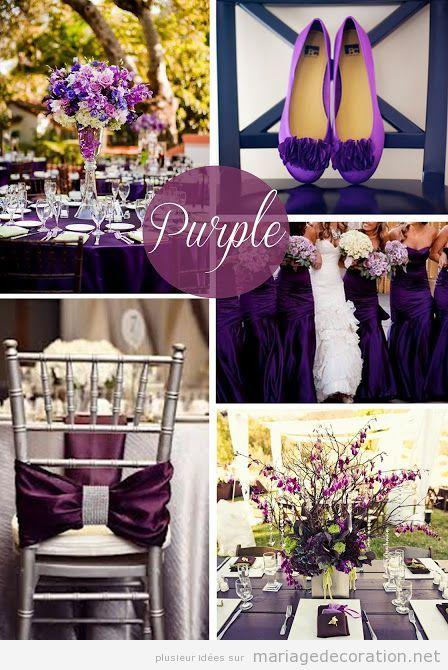 Idees décoration mariage en violette