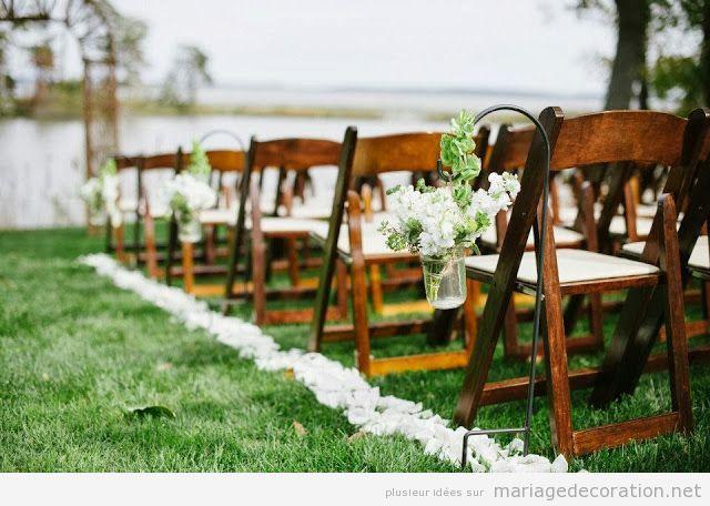 Idées déco mariage jardin, couloir vers l'autel