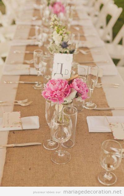 Idées pour décorer una table de mariage