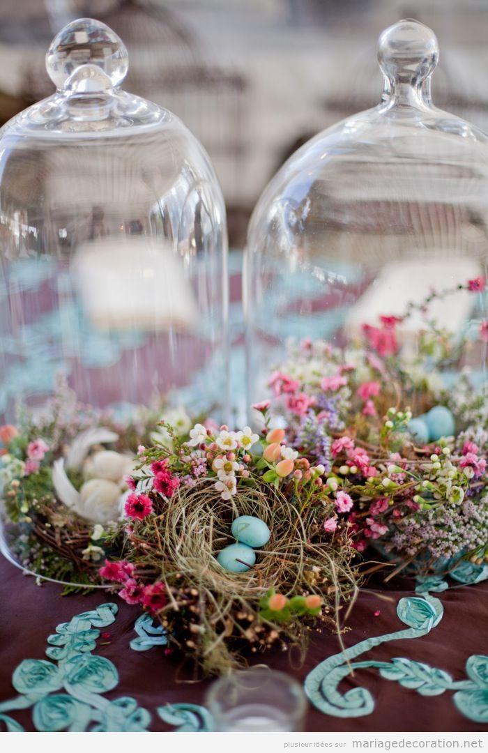 Idée original, déco mariage avec des nids