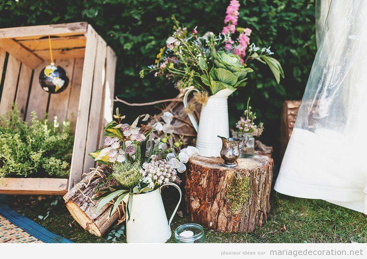 Idées décorer mariage pas cher au jardin