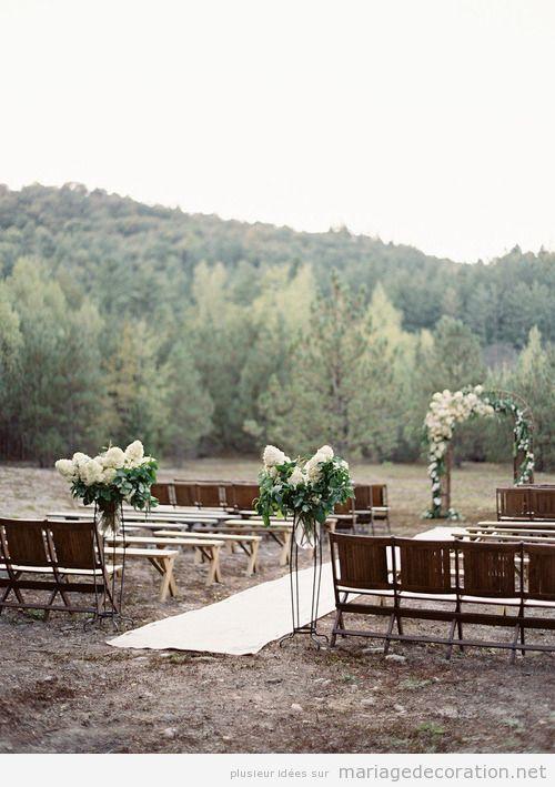 Idées décorer mariage au jardin