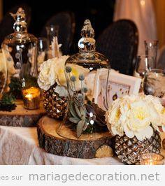 Déco table mariage rustique et romantique