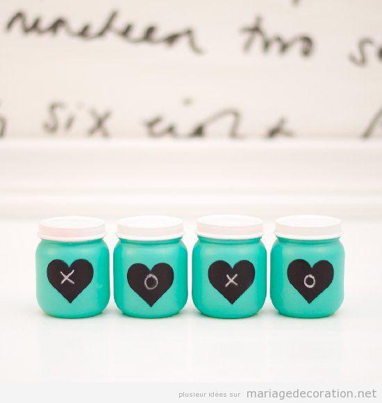 Idée moderne et DIY por décorer une table de mariage