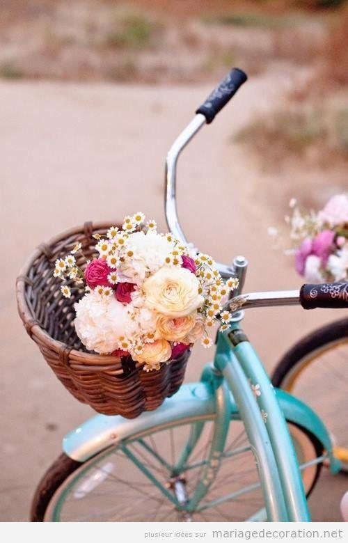 Vélo vintage ancienne pour décorer un mariage