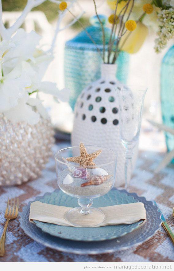 Idées pour décorer une table mariage sur la plage