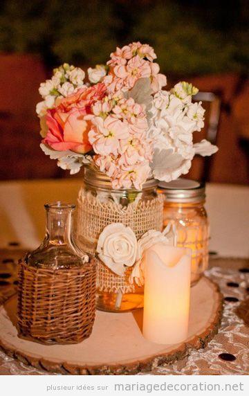 Idées déco centre table mariage style vintage