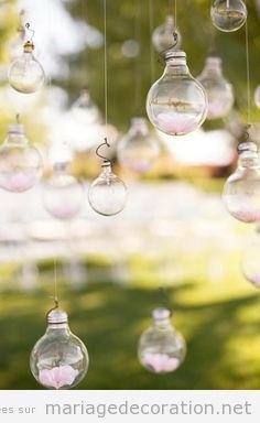 Idée déco mariage pas cher avec ampoules