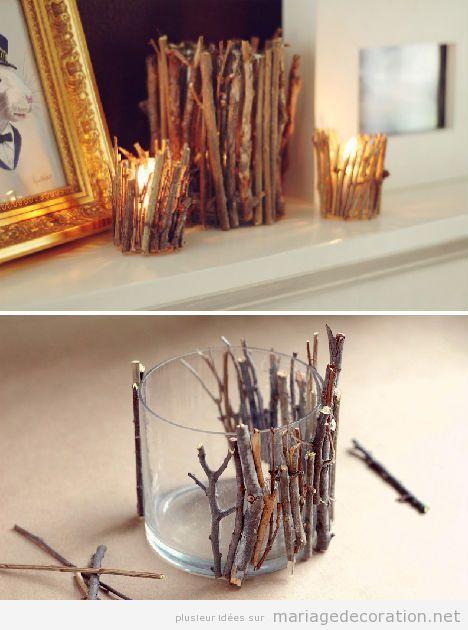 Idée déco centre rable, vase branches sèches arbre