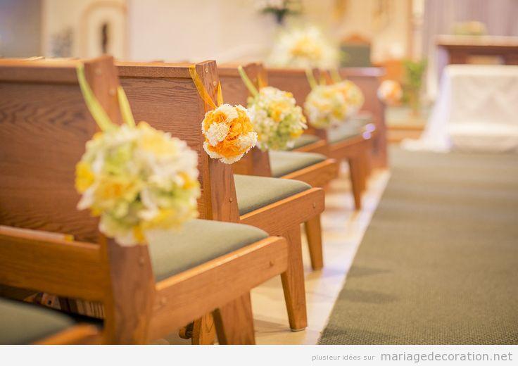 Idée simple pour décorer un mariage à  l'église