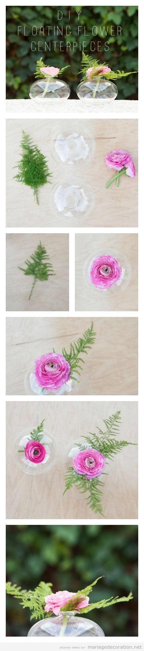 Idées décorer mariage pas cher fleur flottante