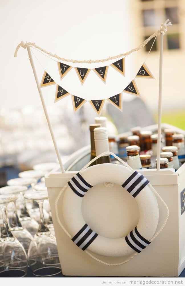 Idées décorer mariage motifs marins