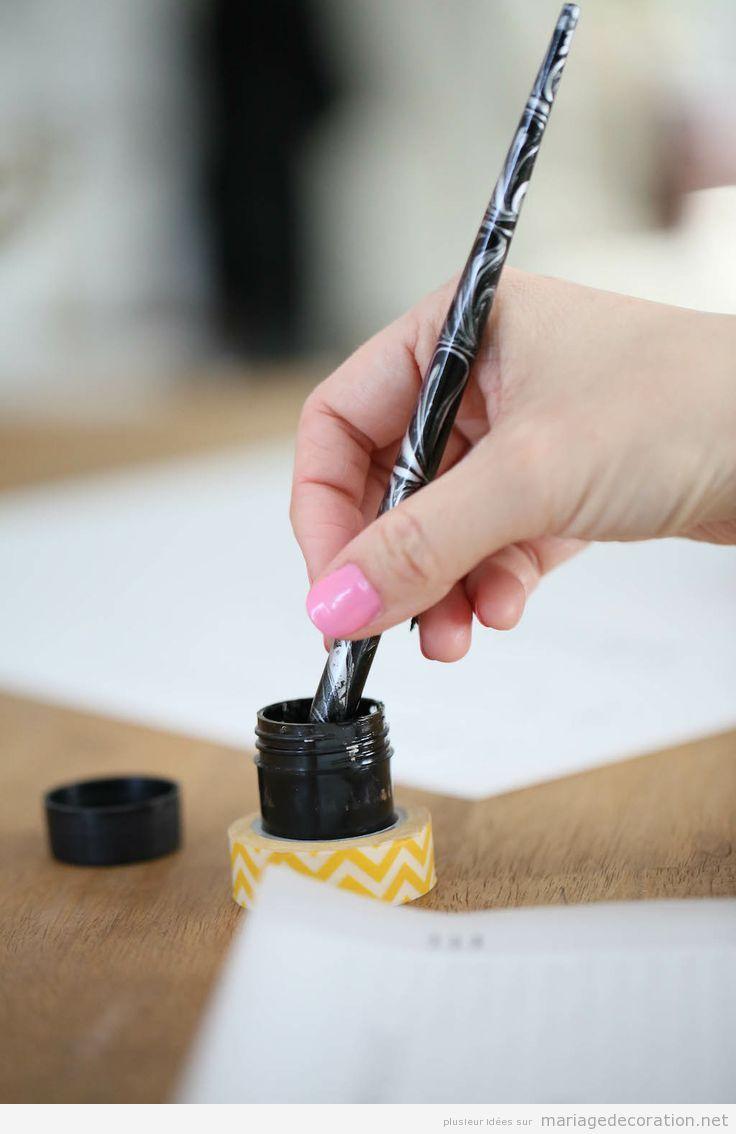 Idées originals mariage, stylo à plumme