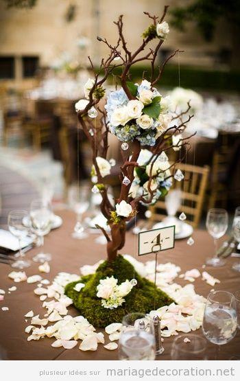 Idée centre table mariage, un arbre petit