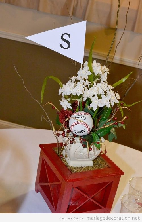 Idée déco mariage sports baseball
