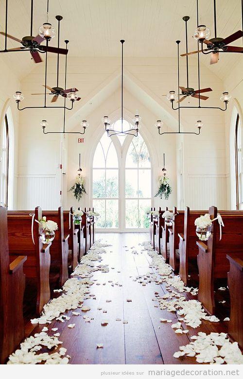 Idée déco église mariage