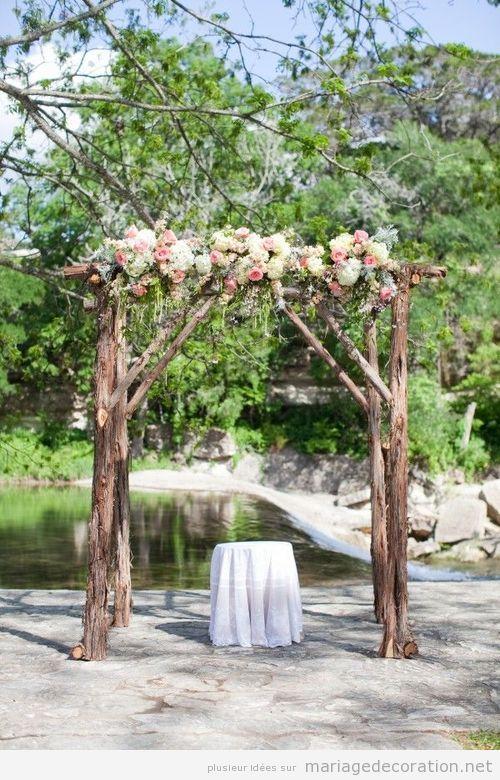 Autel vintage, mariage au jardin  Décoration Mariage  Idées pour