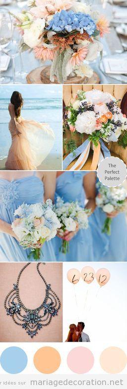 Idées déco mariage couleurs pastel