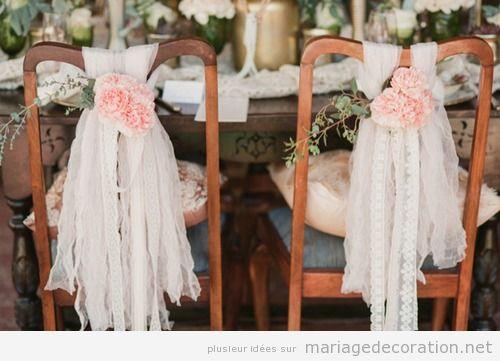 idées décorer chaises mariage