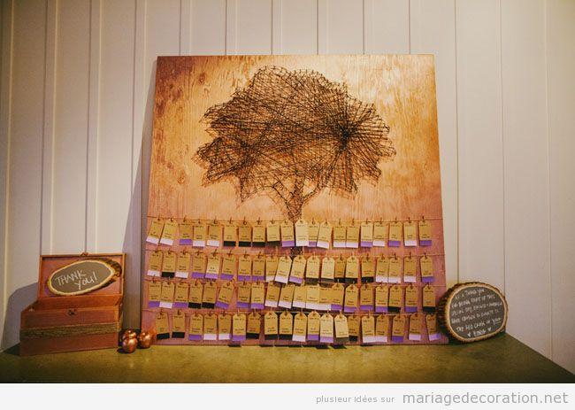 String Art forme arbre pour décorer un mariage