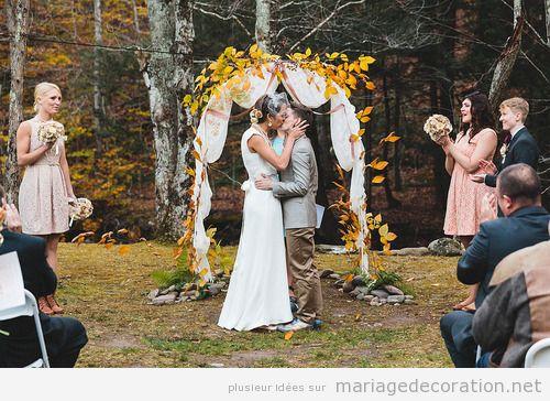 Idees déco mariage fôret automne