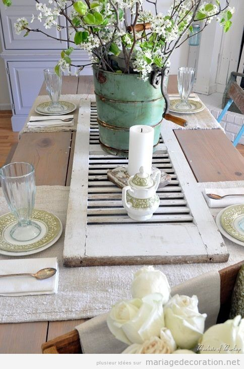 Idées déco mariage, table rustic-chic
