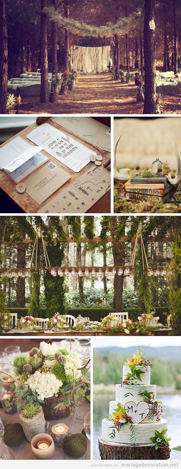 Idées décoration mariage fôret