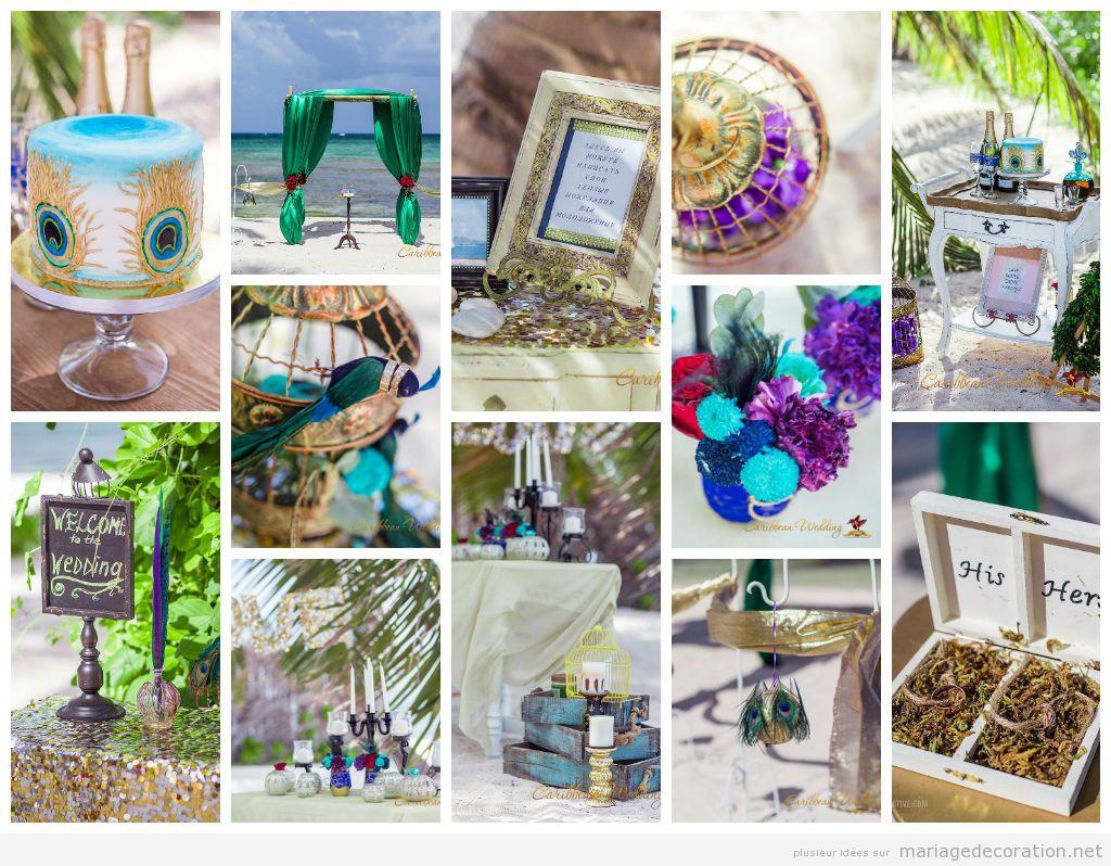 Idées décorer mariage plage Caraïbe