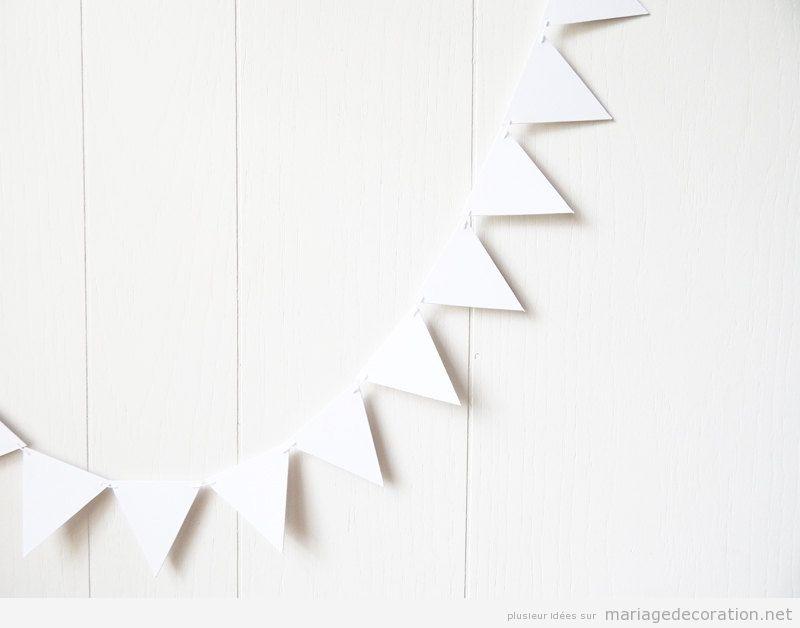 Déco mariage pas cher, guirlande triangle DIY