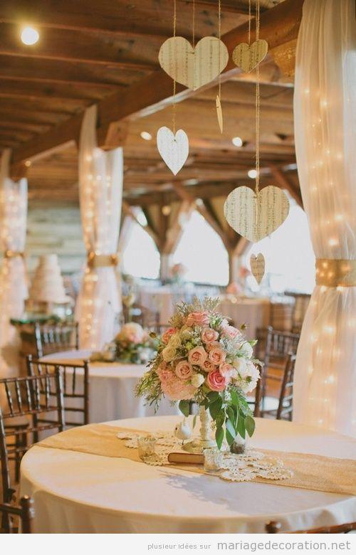 Idées décoration salle et table mariage vintage
