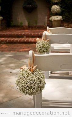 Idée pour décorer les chaises cérémonie mariage