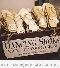 Idée bal mariage, sandales pour les invitées