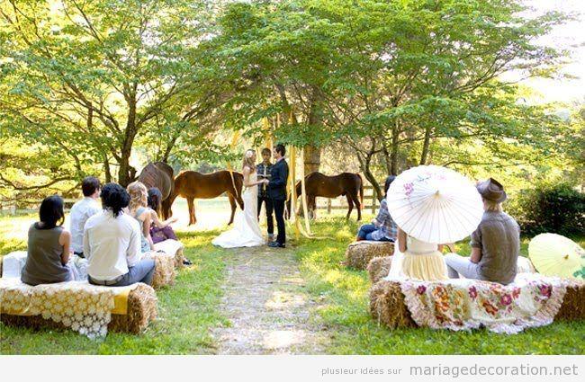 Idée décoration mariage champêtre