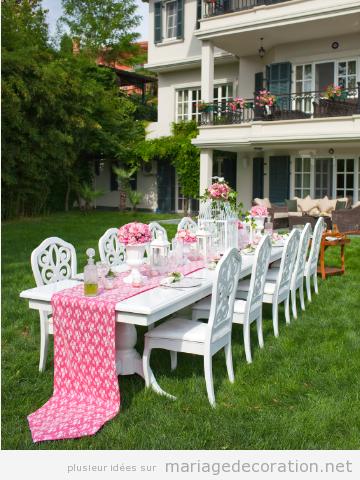 Idées décorer table mariage au jardin de ta maison
