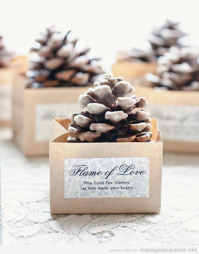 Idée cadeau de remerciement pour vos invités, pomme de pin