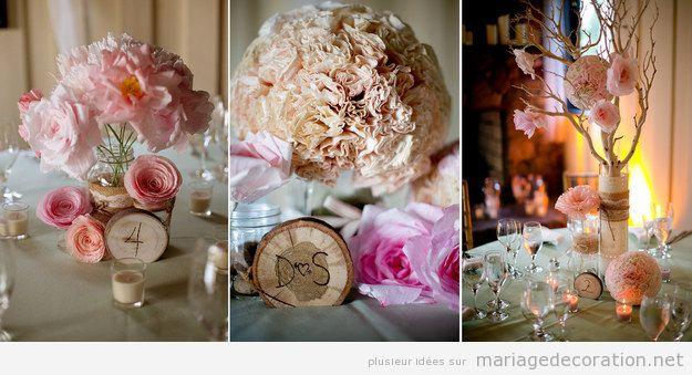 Centre de table DIY, fleurs en papier fabriqués avec filtres de cafetière